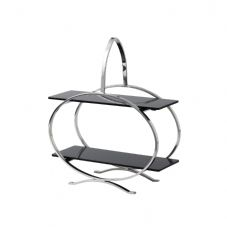 Round 2 Tier Stainless Steel Cake Stand